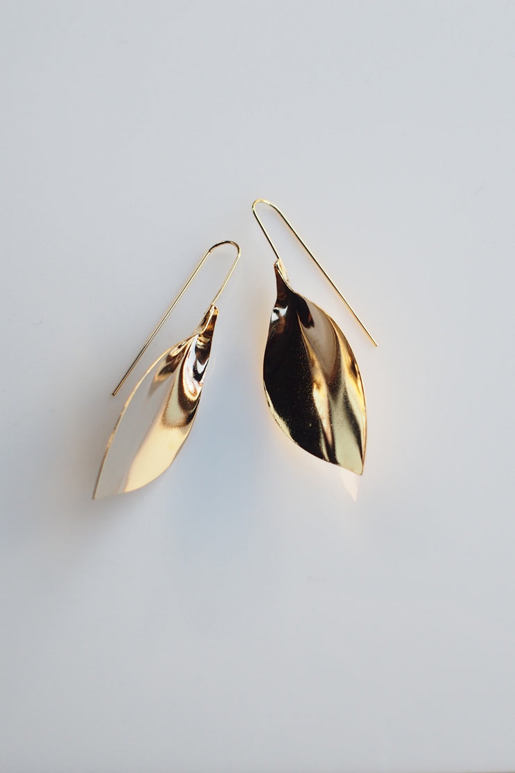 Leaf Earrings [Gold/Silver]