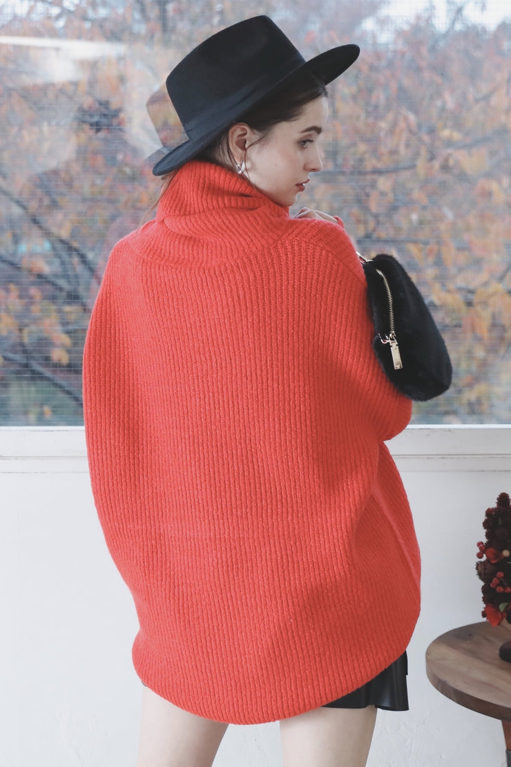 Saule Silinyte Oversize Turtle Knit [Red]