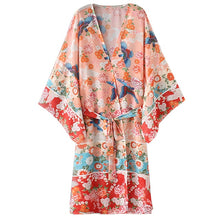Load image into Gallery viewer, Kimono Cardigan Floral Printed Long Sleeve