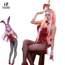 Load image into Gallery viewer, Zero Two Bunny Girl Red Leather Suit