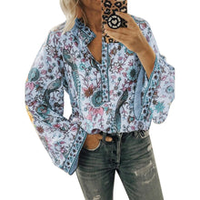 Load image into Gallery viewer, Boho Blouse Floral Print