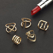 Load image into Gallery viewer, 5 Pcs/ Set Classic Gold Rings