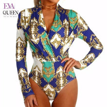 Load image into Gallery viewer, V Neck Long Sleeve Bodysuit