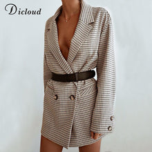 Load image into Gallery viewer, Elegant Baby Plaid Blazer Dress Jacket