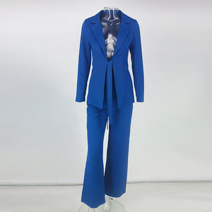 Long Sleeve Suit Runway Casual