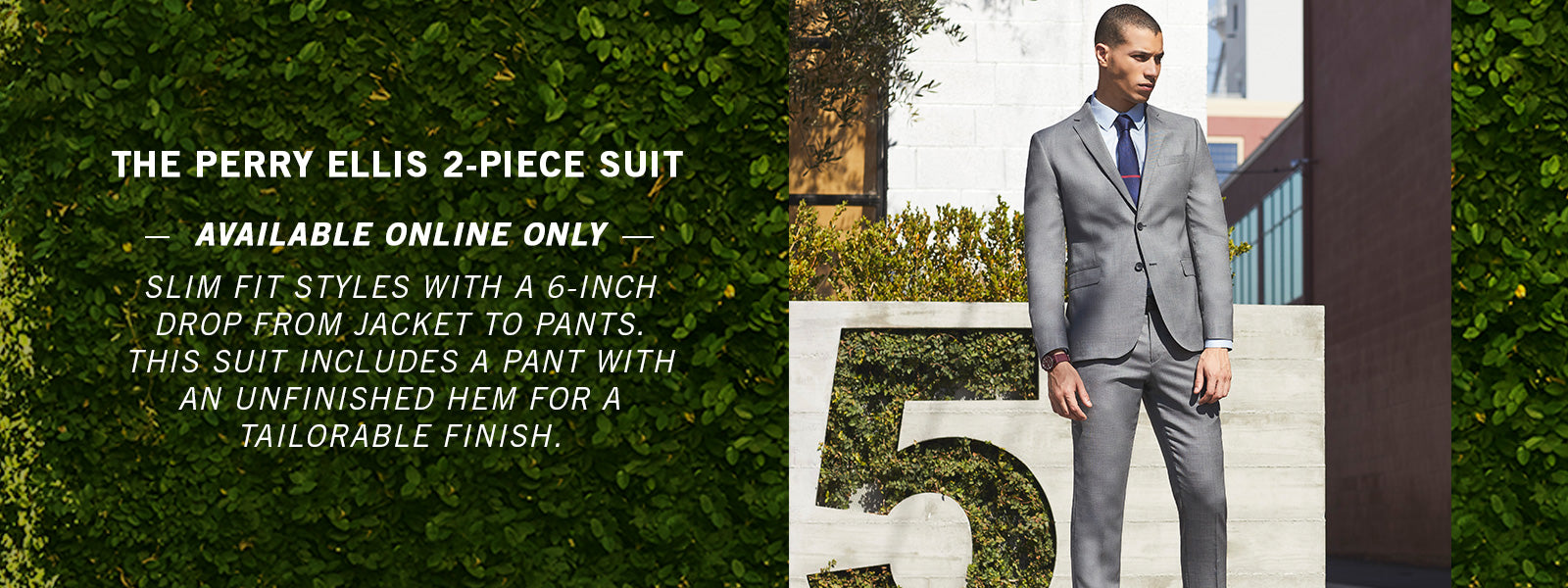 Perry Ellis 2 Piece Suit - SHOP NOW