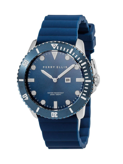 Unisex Deep Diver Navy Silicon Watch Navy / NS