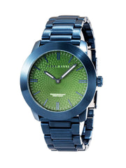 Unisex Slim Line Olive Stainless Steel Watch Emerald / NS