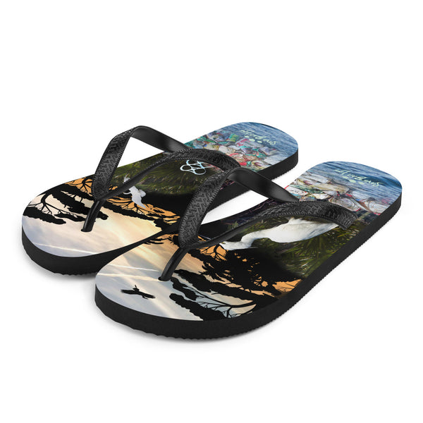 Create awareness to the plight of plastic pollution in the Everglades. Flip-flops designed by Sushila Oliphant, Save Bait Life, LLC.