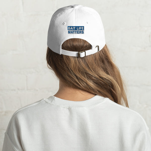 Save Bait Life sporty dad caps by Sushila Oliphant for save bait life.