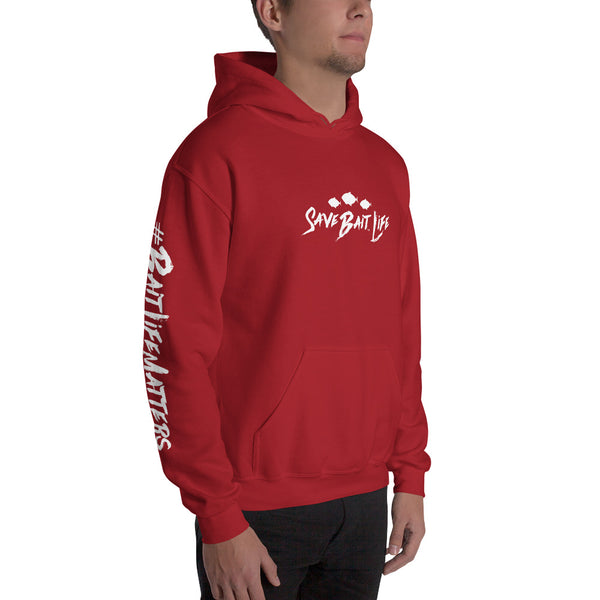 Save Bait Life Hoodie, our official hoodie designed by Sushila Oliphant for Save Bait Life