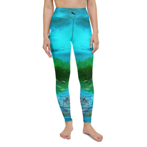 These yoga pants depicting the pollution of the Everglades, impacting fish and wildlife. Designed by Sushila Oliphant, Save Bait Life, LLC.