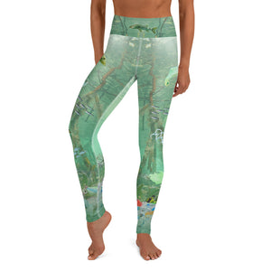 Mangroves ecosystem is deep in plastic pollution. These environmentally conscious yoga pants brings awareness to ocean pollution by Sushila Oliphant, Save Bait Life.