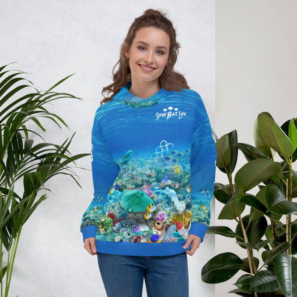 Stingrays Swimming After Plastic - Unisex Hoodie