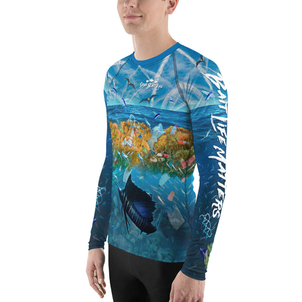 Mahi-Mahi, Sailfish and Chemtrails Men's Rash Guard