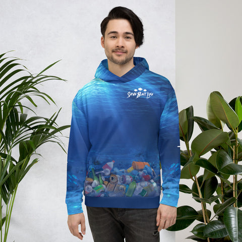 Dolphins Chasing Plastic - Unisex Hoodie
