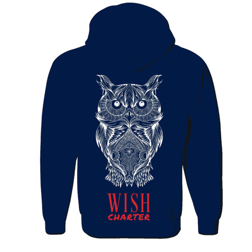 Owl Logo Hooded Sweatshirt with Zipper