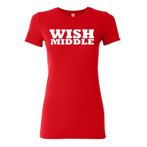 Red WISH Middle Fitted T-Shirt