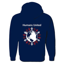 "Load image into Gallery viewer, ""Humans United"" Full-Zip Hoodie"