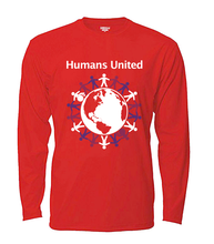 "Load image into Gallery viewer, ""Humans United"" Long Sleeved T-shirt"