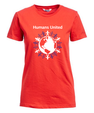 "Load image into Gallery viewer, ""Humans United"" Fitted T-Shirt"