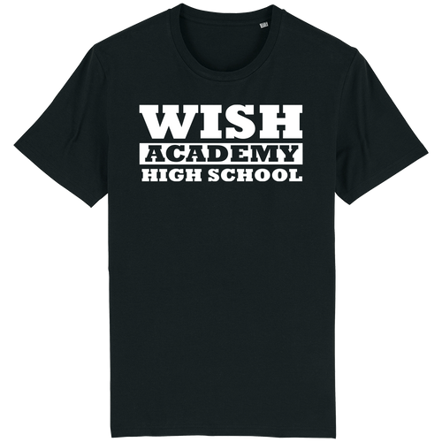 WISH Academy High School T-Shirt LARGE FONT (***Black ONLY Approved for P.E. ***)