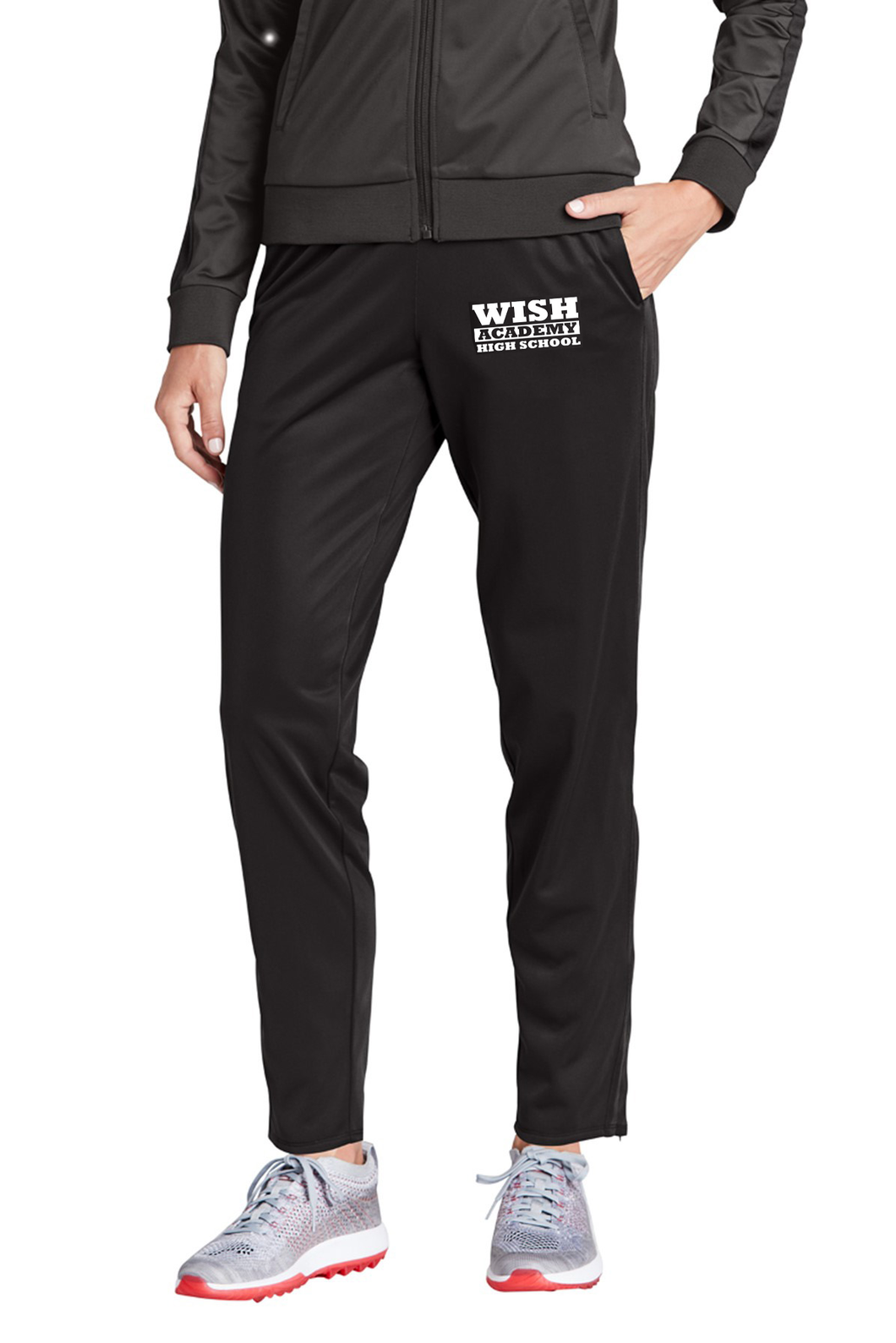 WISH Academy Women's Tapered Leg Athletic Active Pants