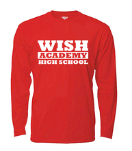 Load image into Gallery viewer, WISH Academy High School Long Sleeved LARGE FONT (***Black ONLY Approved for P.E. ***)