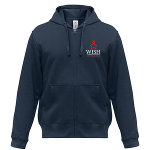 WISH Community Red School House Full-Zip Hoodie Sweatshirt