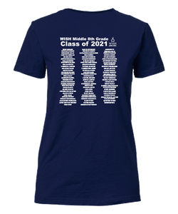 8th Grade Class of 2021 Middle School Fitted T-Shirt