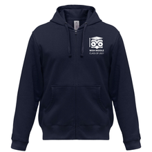 Load image into Gallery viewer, WISH 8th Grade Middle School Full-Zip Up Hoodie