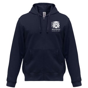 WISH 8th Grade Middle School Full-Zip Up Hoodie