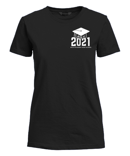 WISH Academy High School CLASS OF 2021 Fitted T-Shirt