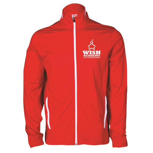 WISH Academy High School Full Zip Sport Jacket w/ House -- Style B