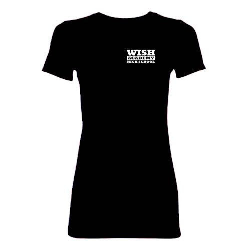 WISH Academy High School Fitted T-Shirt (***BLACK ONLY Approved for P.E. ***)