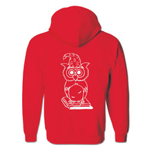 "Load image into Gallery viewer, ""The Wise Owl"" Full-Zip Hoodie"