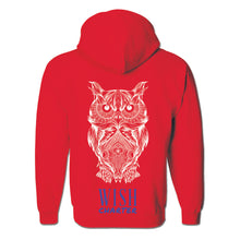 Load image into Gallery viewer, Sketched Big Owl Pullover Hoodie Sweatshirt
