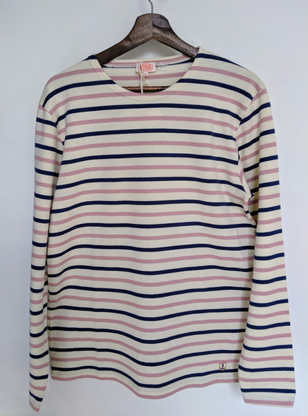 Armor Lux Breton Shirt - Natural/Ink/Pink