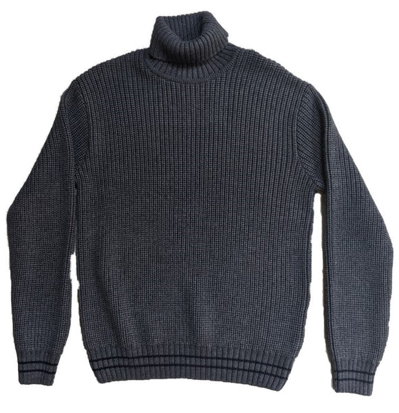 Edwin Roll Neck - Grey