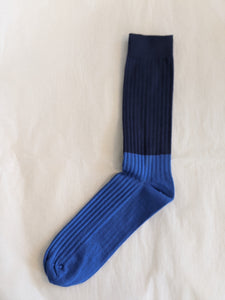 Escuyer - Stripe Socks Navy/Royal
