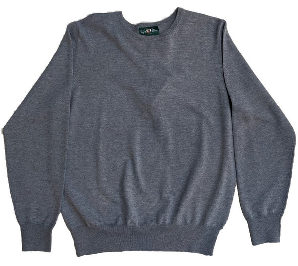 Alan Paine Radstone Merino Crew - Light Grey