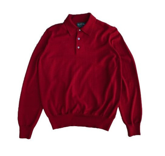 Alan Paine Hindhead Merino Polo - Red