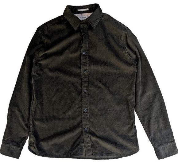 Selected Cord Shirt - Forest Green