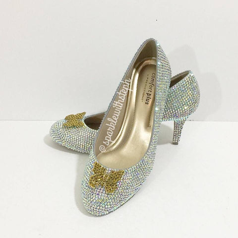 Glass Slipper Princess Rhinestone Heels