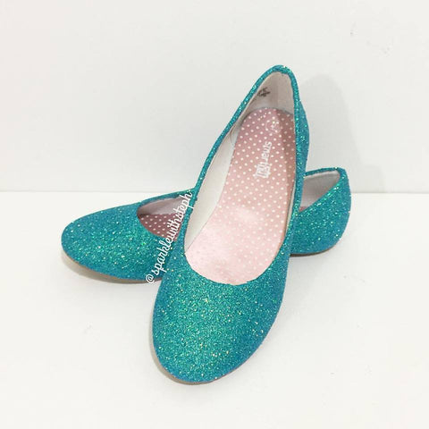 Glitter Shoes Flats Youth