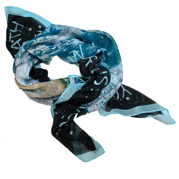 Earth scarf for women folded