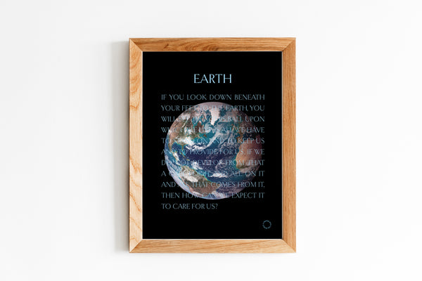 Earth poster in frame unfolded
