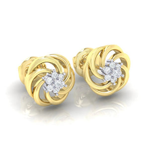 18Kt gold real diamond earring 10(1) by diamtrendz