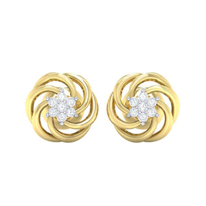 18Kt gold real diamond earring 10(2) by diamtrendz