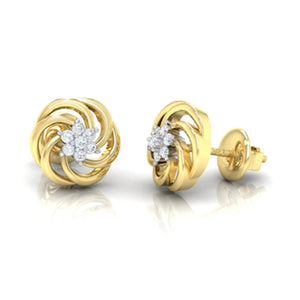 18Kt gold real diamond earring 10(3) by diamtrendz
